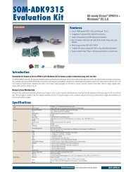 Datasheet (PDF) - SOM-ADK9315 Evaluation Kit