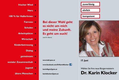 Dr. Karin Klocker