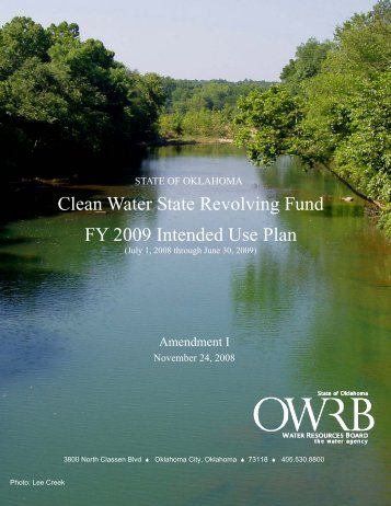 CWSRF FY 2009 IUP Amendment 1 - Water Resources Board ...