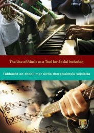 Music as a Tool for Social Inclusion (PDF) - Cork City Council