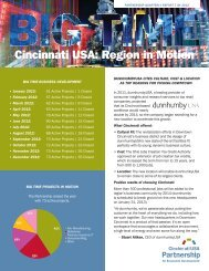 Partnership Quarterly Report Q4 2012 - Cincinnati USA