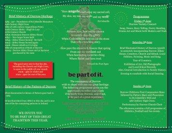 Durrow Pattern Festival 7th-9th June