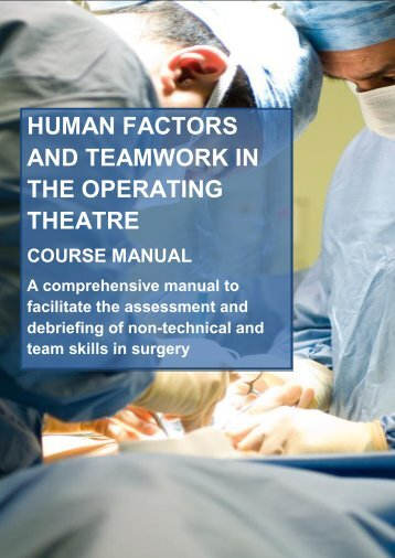 human factors and teamwork in the operating theatre - Imperial ...
