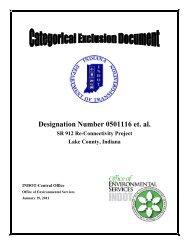 Designation Number 0501116 et. al. SR 912 Re ... - State of Indiana