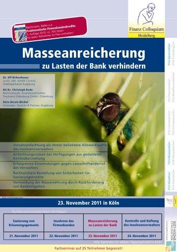 Masseanreicherung - Schneider Geiwitz & Partner