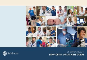SERVICES & LOCATIONS GUIDE - St. Mary's Medical Center