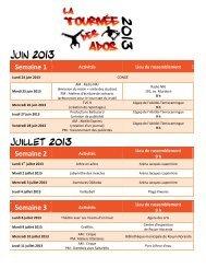 Semaine 1 Semaine 2 Semaine 3 - Ville de Rouyn-Noranda