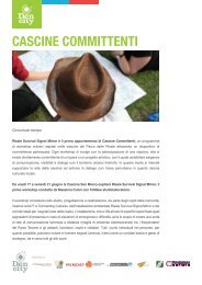 CASCINE COMMITTENTI - Connecting Cultures