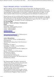 Wagners «Rheingold» auf Stelzen - Tour durch Bayern ... - Die Stelzer