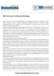 SAP mit neuer On-Demand-Strategie