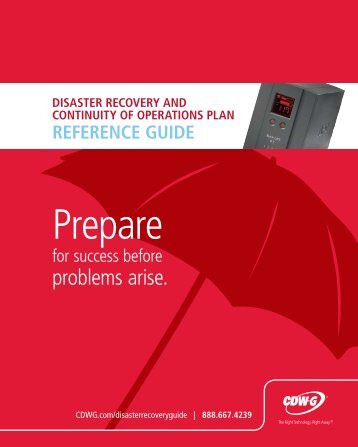 disaster recovery and continuity of operations plan reference guide
