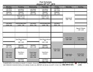 Pool Schedule January 25 -31 , 2010 Line - City of Humboldt