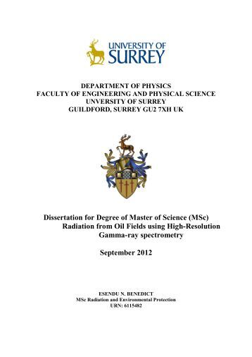 Msc dissertation university of surrey