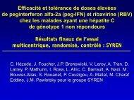 (peg-IFN) et ribavirine (RBV) - Afef