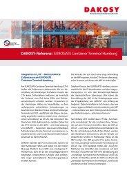 DAKOSY-Referenz: EurogAtE Container terminal Hamburg