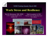 Work Stress and Resilience - The 2012 Integrated Medical, Public ...