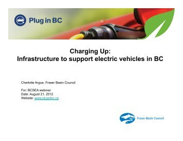 Charging Up: Infrastructure To Support Electric Vehicles In BC