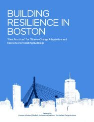 building resilience in boston - Boston Green Ribbon Commission