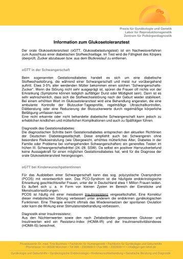 Information zum Glukosetoleranztest - Fachübergreifende Praxis für ...