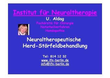 Naturheilverfahren Folien - Institut für Neuraltherapie Berlin