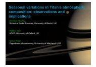 Seasonal variations in Titan's atmospheric composition ...