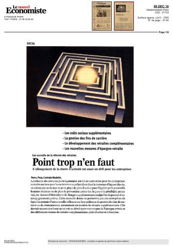 Capital prive magazine gestion de patrimoine paris - Point trop n en faut ...