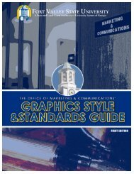 Graphics Style and Standards Guide - Fort Valley State University