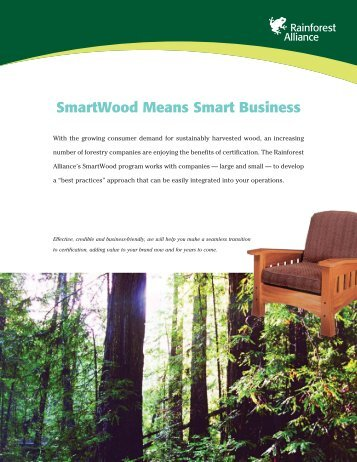 SmartWood Means Smart Business - Rainforest Alliance