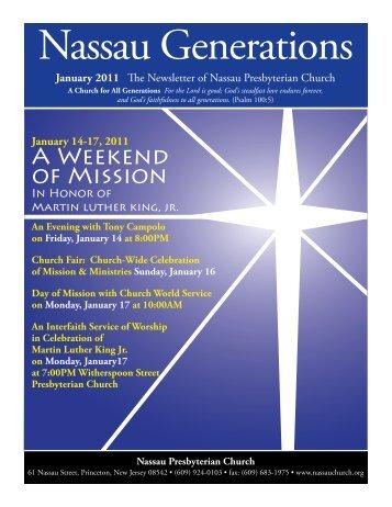 January - Nassau Presbyterian Church