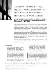 the impact of diversity and equality management on firm performance