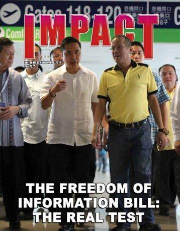 Php 70.00 Vol. 46 No 12 • December 2012 - IMPACT Magazine ...