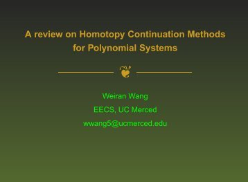 A review on Homotopy Continuation Methods for Polynomial Systems