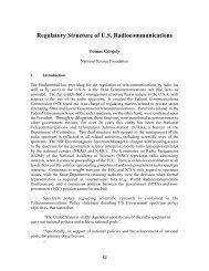 Regulatory Structure of U.S. Radiocommunications, Tomas ... - IUCAF