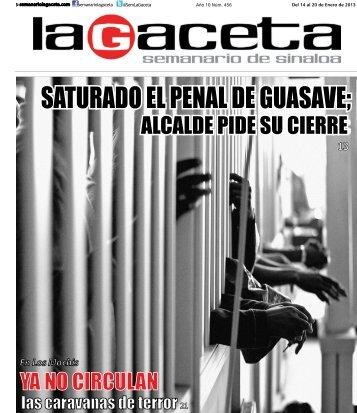 SATURADO EL PENAL DE GUASAVE; - SEMANARIO LA GACETA