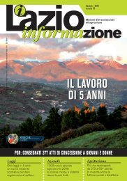 il lavoro di 5 anni il lavoro di 5 anni - Agricoltura - Regione Lazio