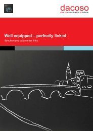 Well equipped – perfectly linked - dacoso