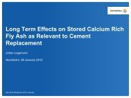 Long Term Effects on Stored Calcium Rich Fly Ash as Relevant to ...