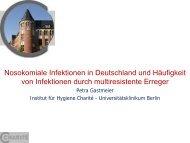 Nosokomiale Infektionen in Deutschland ... - PEG-Symposien