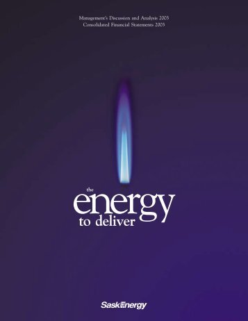 2003 Annual Report - SaskEnergy