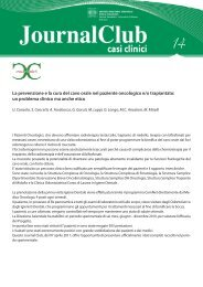 La prevenzione e la cura del cavo orale nel paziente oncologico e/o ...