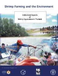 Thailand: A Case Study on institutional aspects of shrimp aquaculture