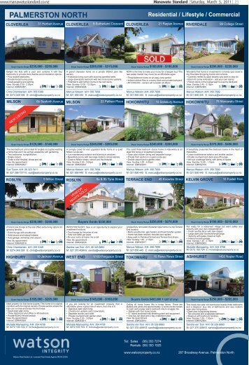 PALMERSTON NORTH / FEILDING Residential / Lifestyle ... - Stuff
