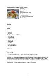 Rezepte aus dem grossen Kanton 31.3.2012 ... - bei Rice & Spice