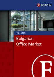 Bulgarian Office Market – H1, 2012 - Forton