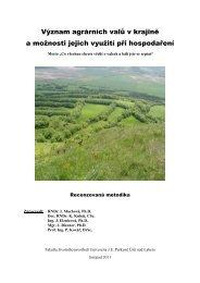 Význam agrárních valů v krajině a možnosti jejich využití při ...