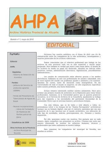 Boletín nº 1, mayo de 2010