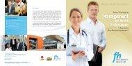 Folder Master-Studiengang Management for Health Professionals