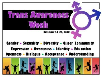 Trans Awareness Week Bulletin Board - MyLaurier