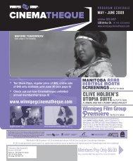 cinematheque - Winnipeg Film Group