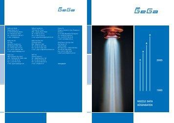 2005 1965 NOZZLE DATA DÜSENDATEN - GeGa